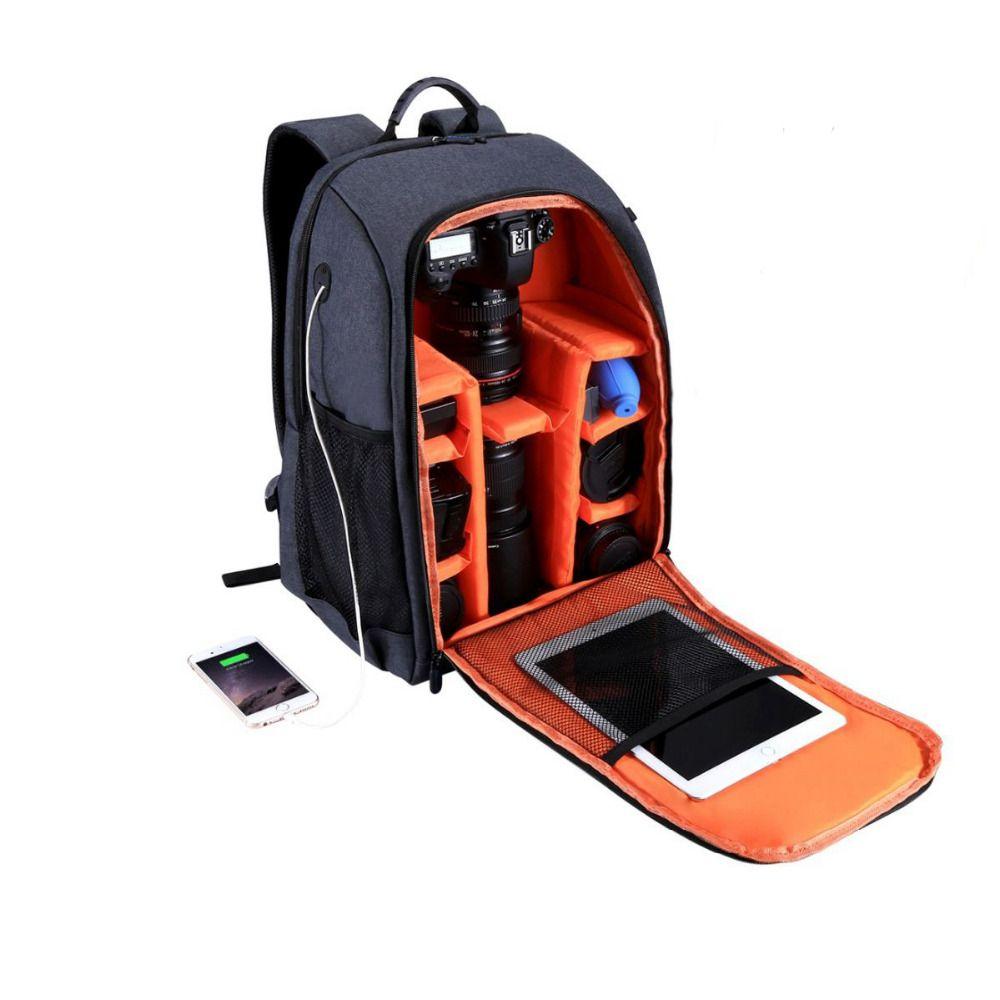 Free Shipping PULUZ Multifunctional Waterproof Scratchproof Digital DSLR Camera Photo Video Shoulder SLR Camera Bag w/Rain Cover