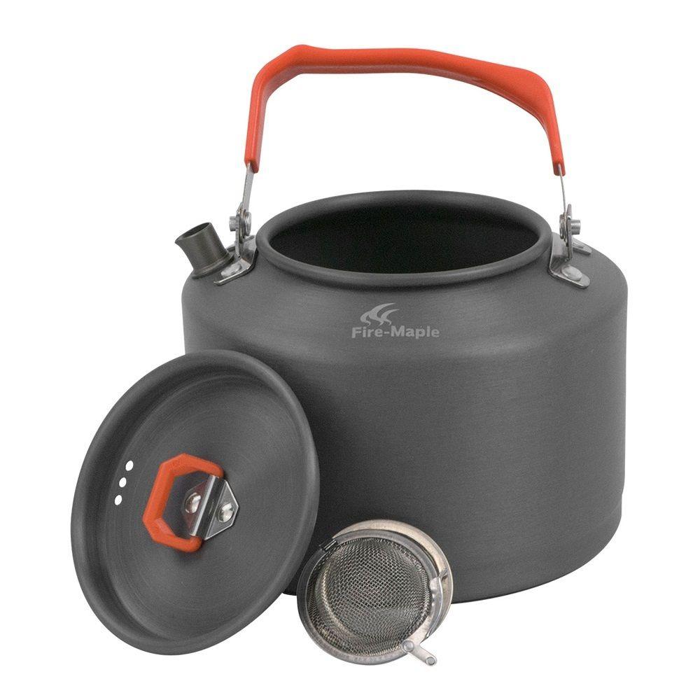 Set de pique-nique d'équipement de randonnée de café de bouilloire de Camping en plein air d'érable de feu 1.5L avec la poignée de preuve de chaleur et la FMC-T4 de passoire à thé