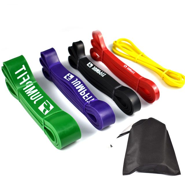 Natural Latex Athletic Rubber Resistance Bands set Gym Expander Crossfit Power Lifting <font><b>Pull</b></font> Up Strengthen Muscle
