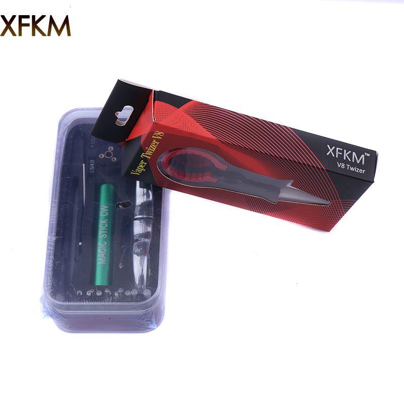 XFKM Neue Zauberstab CW Coiling Kit 6 Größe in 1 Spule Jig Haspel Heizdraht Docht Werkzeug Für DIY RDA RBA Zerstäuber mod