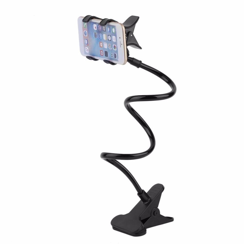 Faul Regal Nacht Handy Halter Clip Für IPHONE Smartphone Verstellbaren Ständer Halter Schreibtisch Langen Biegen Faltbare Unterstützung