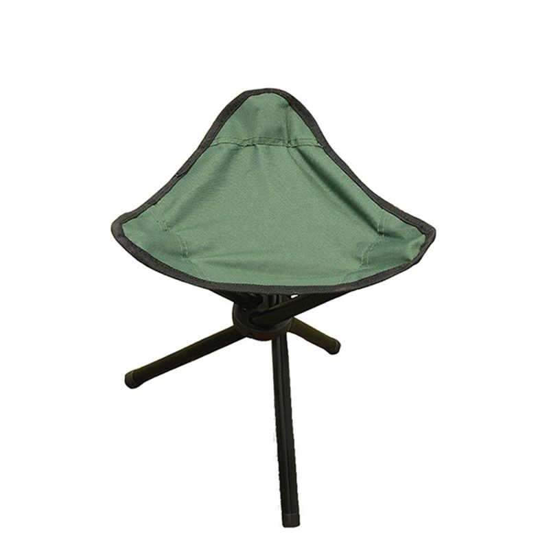 Green Outdoor Chair Stools Portable Foldable Triangular Fishing Chair Picnic Beach Chairs Practical H193-2