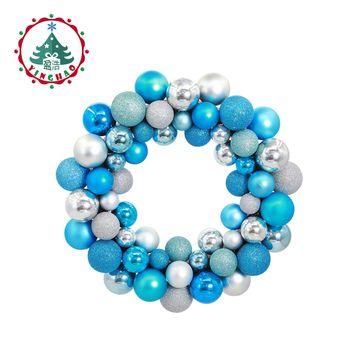 inhoo polystyrene balls ring  Christmas Wreath Garland Hanging Pendant Decor For  Restaurant  Window Door  Wedding  Decorations