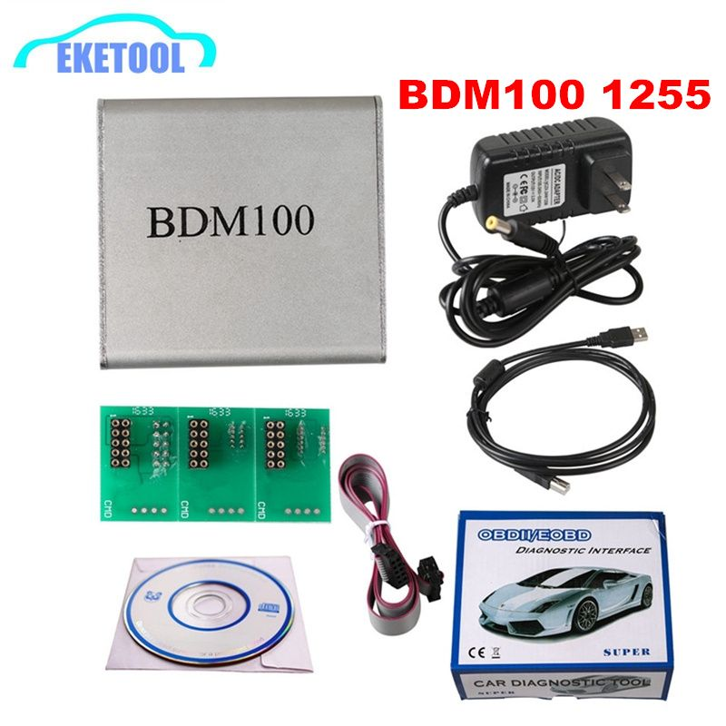 BDM100 ECU Programmer Read&Program ECU OBDII New V1255 BDM100 Auto ECU Chip Tuning Program BDM ECU Flasher Reader