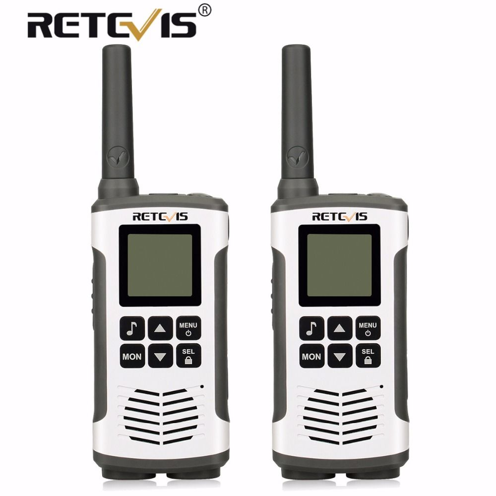 2pcs Retevis RT45 Portable Walkie Talkie PMR446 PMR/FRS Licence-free 2 Way Radio Hf Transceiver UHF VOX and Rechargeable Battery