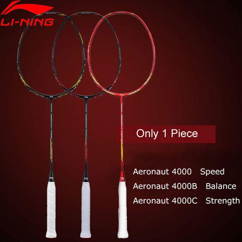 Li-Ning AERONAUT 4000/4000C/4000B Badminton Schläger Futter Einzelnen Schläger Keine String AYPM448/AYPM444/ AYPP042 ZYF313