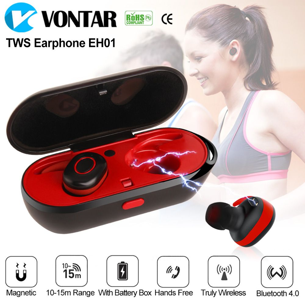 New Style Mini Wireless Bluetooth headphones Earbuds headset Sweat Proof TWINS earphone with charging box for Iphone Xiaomi