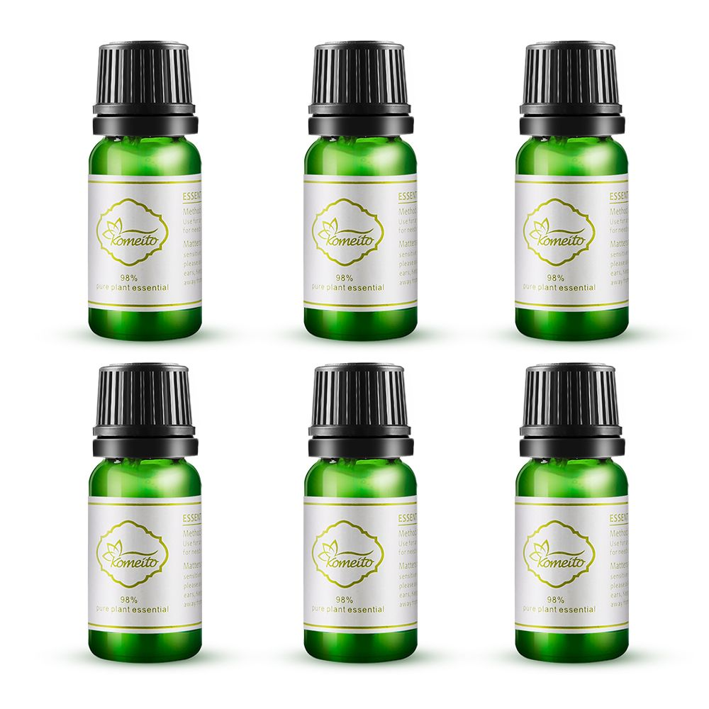 EASEHOLD 10ml 98% Pure and Natural Essential Oil Premium Fragrance Oil Aroma Oil for Stress Relief Humidifier Oil with 6 Kinds