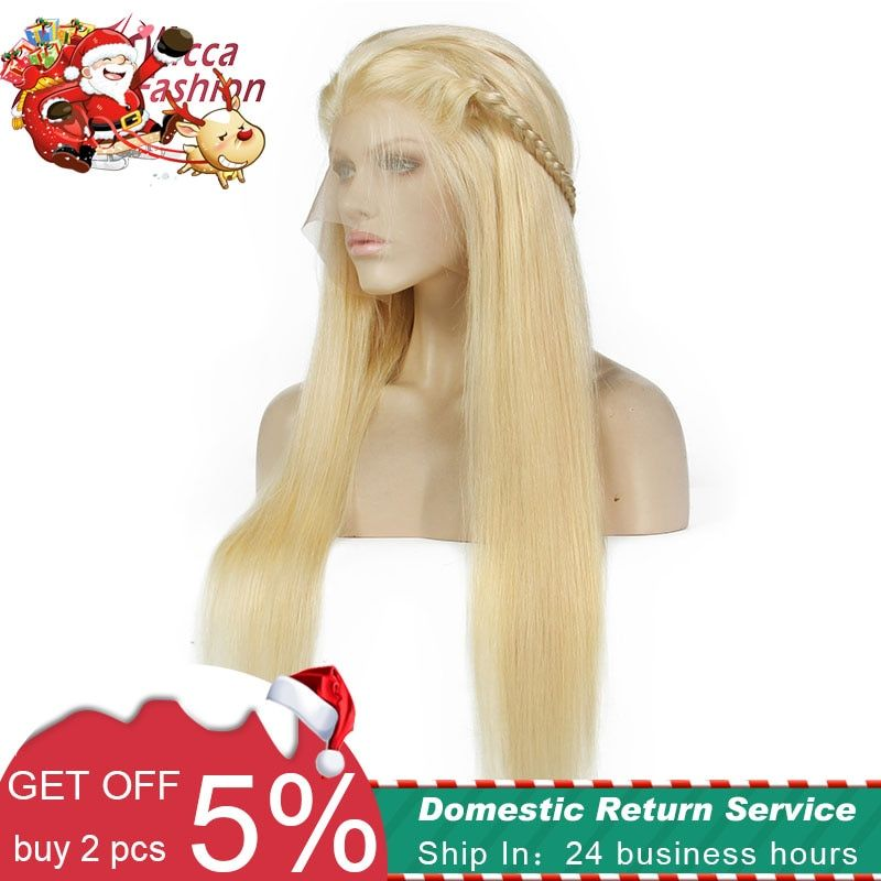 Dream Beauty Straight 613 Blonde full lace human hair wigs Remy Hair Brazilian Wig Baby Hair Pre Plucked Hairline 180 Density
