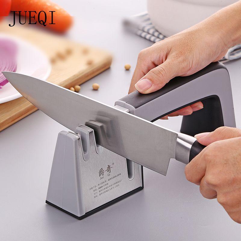 JueQi affûteuse de couteau 4 en 1 diamant enduit et Fine tige en céramique couteau cisailles et ciseaux système d'affûtage lames en acier inoxydable