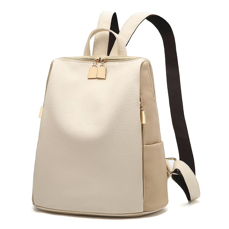 Women Backpack for School Style Leather Bag For College Simple Design Women Casual Daypacks mochila Female Famous Brands168-325