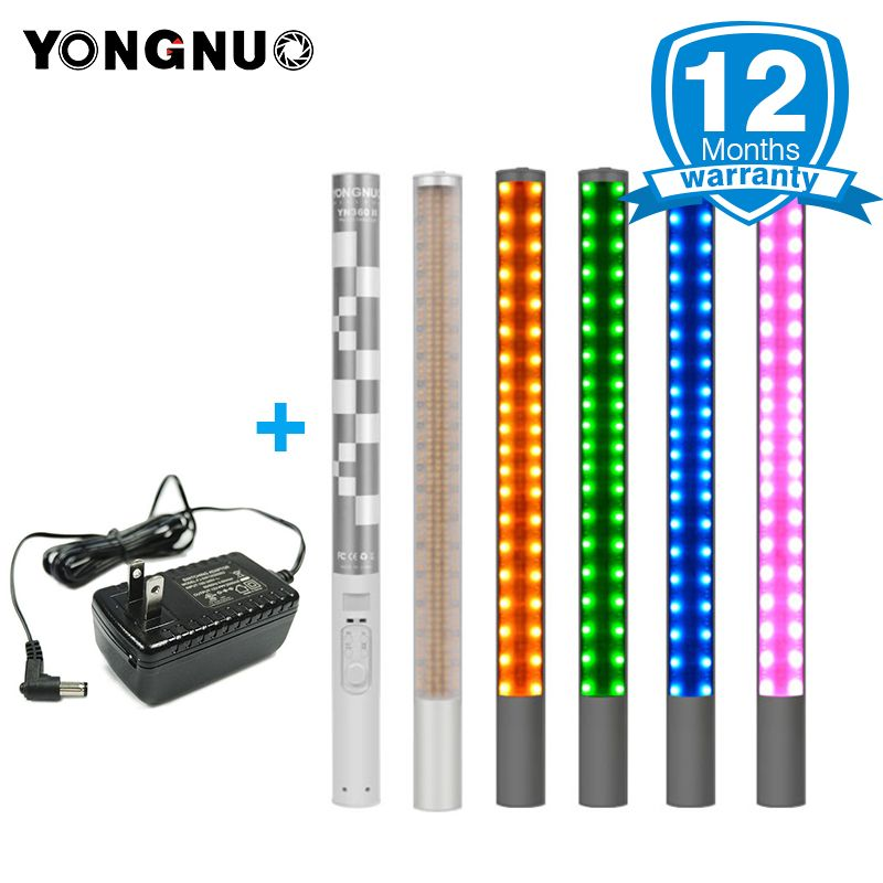 YONGNUO YN360 YN360 II Handheld ICE Stick LED Video Light built-in 18650 lithium battery 3200k-5500k RGB controlled by Phone App