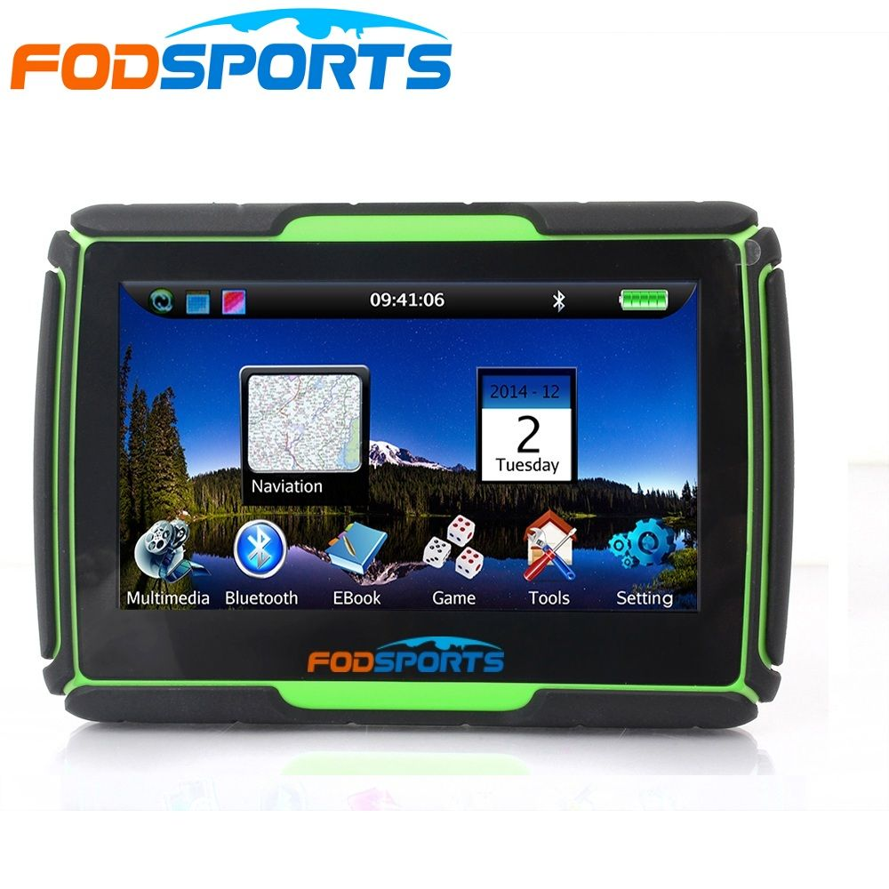 3 Colors available,Newest Version 4.3 Inch 8GB Waterproof Moto Bluetooth GPS Navigation for Motorcycle+Free Maps