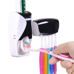 1 комплект креативная автоматическая пластиковая зубная паста для ленивых дозаторов 5 зубных щеток Держатель соковыжималка полки для ванно...
