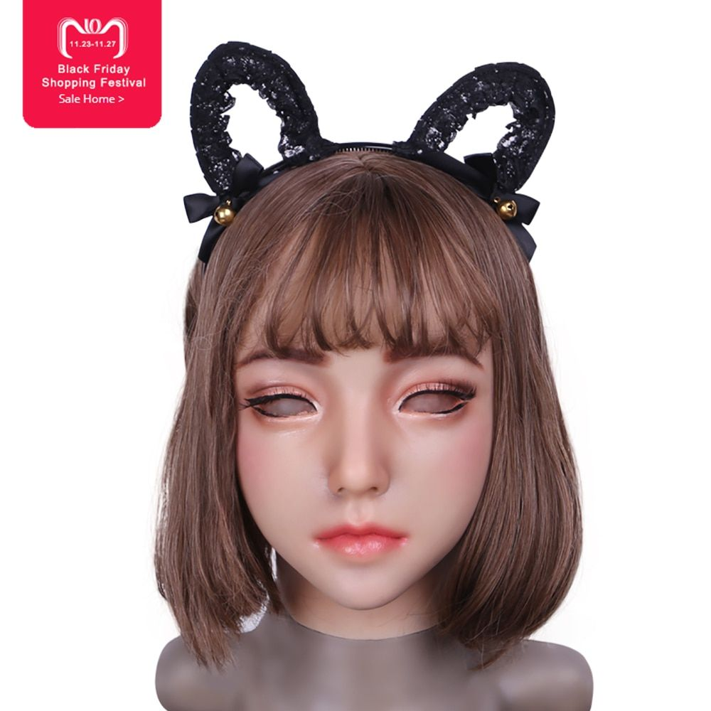EYUNG 2018 new Emily Doll silicone female mask Suitable for crossdresser Pseudo street drag queen shemale cosplay mouth Openable