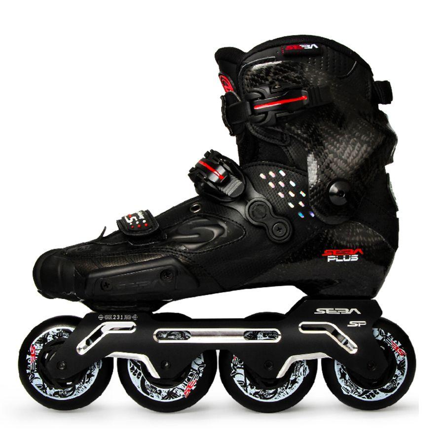 100% Original 2019 Neueste SEBA S Rutsche Professionelle Erwachsene Inline Skates Kohlenstoff Faser Schuhe Slalom Schiebe Freies Skating Patines