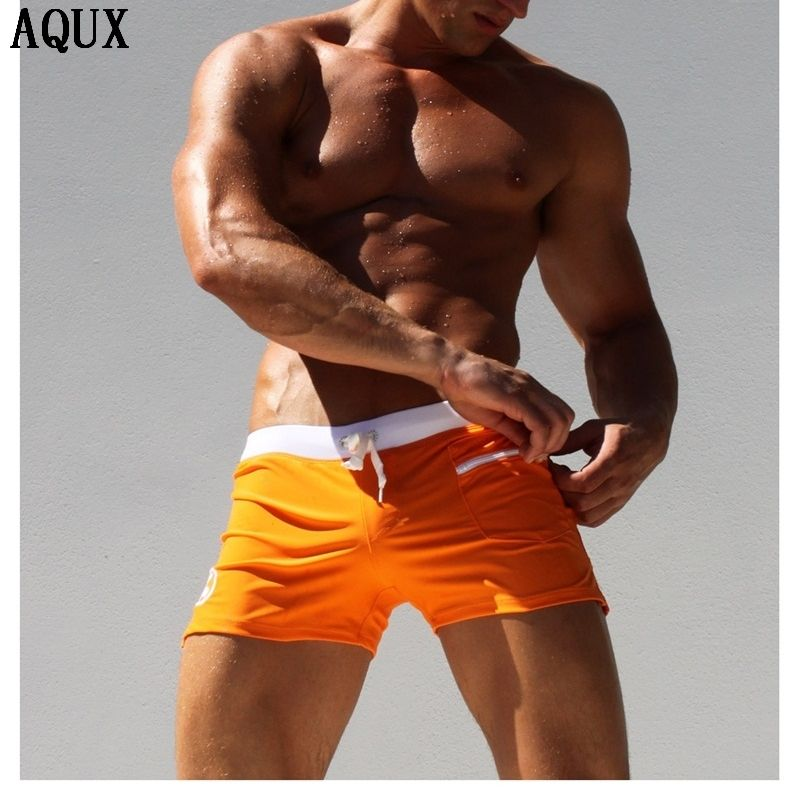 2017 Summer Men's Swimming Trunks Swim Briefs Sexy Swimwear surf board Beach Shorts Boxers for bathing Male Swimsuit Sports Suit