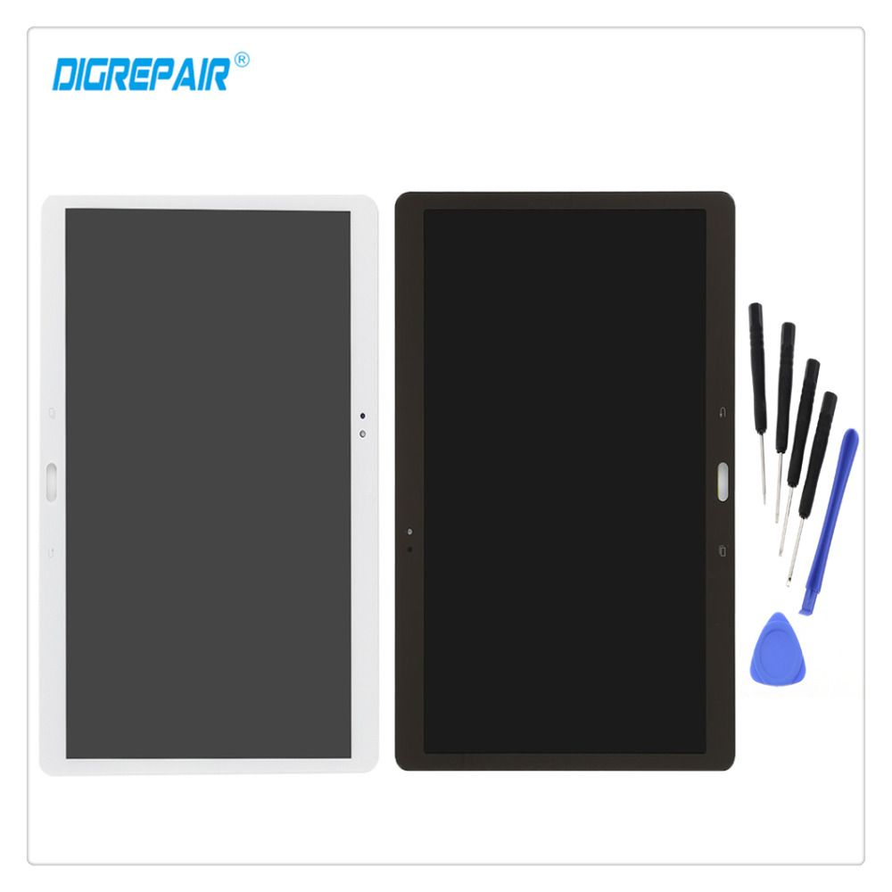 10.5 White/Gold For Samsung Galaxy Tab S T800 T805 LCD Display Digitizer Touch Screen Assembly Parts+Repair Tools Free Shipping