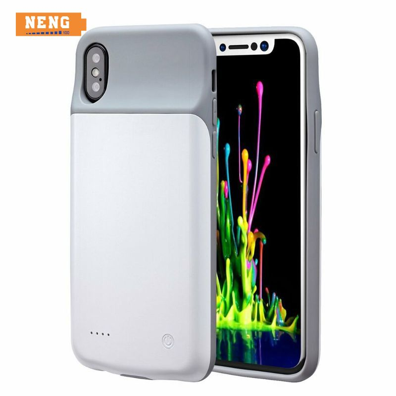 NENG 3200mAh Audio Rechargeable Battery Charging Case for iPhone X, External Ultra Slim Protective Case Power Pack for iPhone X