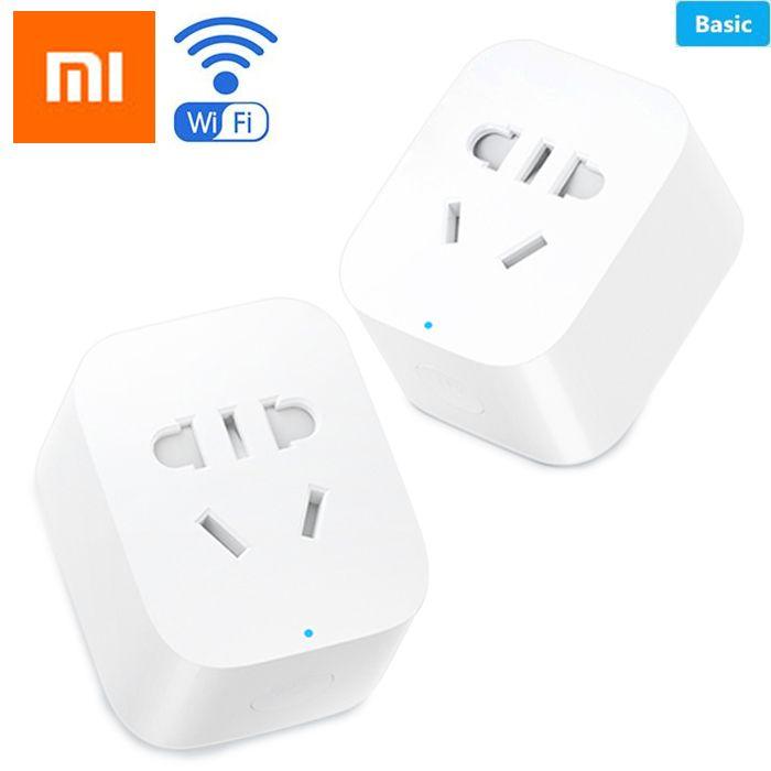Original Xiaomi MiJia Mi Intelligente Netzdosen-stecker Grundlegende Wireless WiFi APP Fernbedienung Zeitschaltuhr Powercube EU DE Adapter