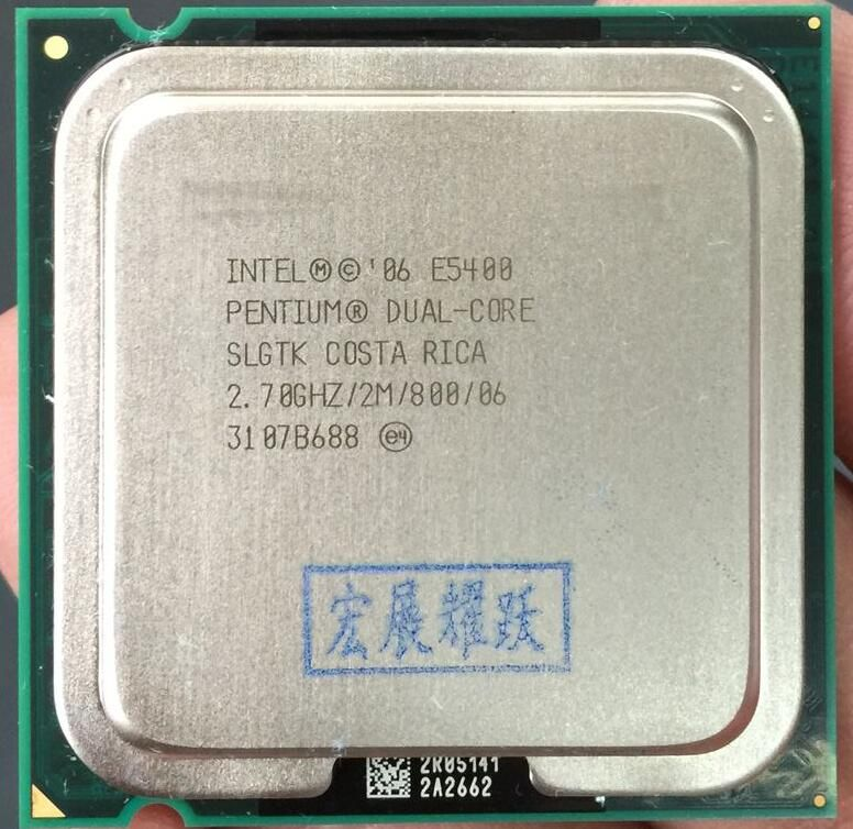 E5400 Desktop computer processor intel used cpu dual core 2 Duo Cpu 2.7GHz 2MB/800MHz LGA 775 Free Shipping scrattered pieces