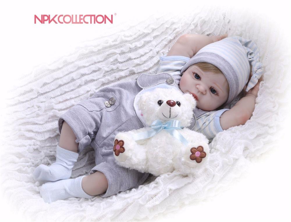 NPKCOLLECTION Full Silicone Body Girl Reborn Doll Alive Baby puppy Toys Lifelike Princess Xmas Fashion Doll Bebe Reborn Menina