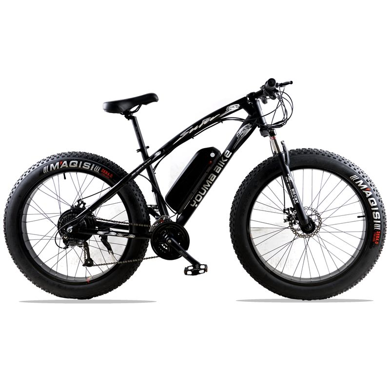 mountain bike fat 48V 500W Samsung Lithium Battery Electric Bicycle 10 AN Large Capacity 27 Speed 26