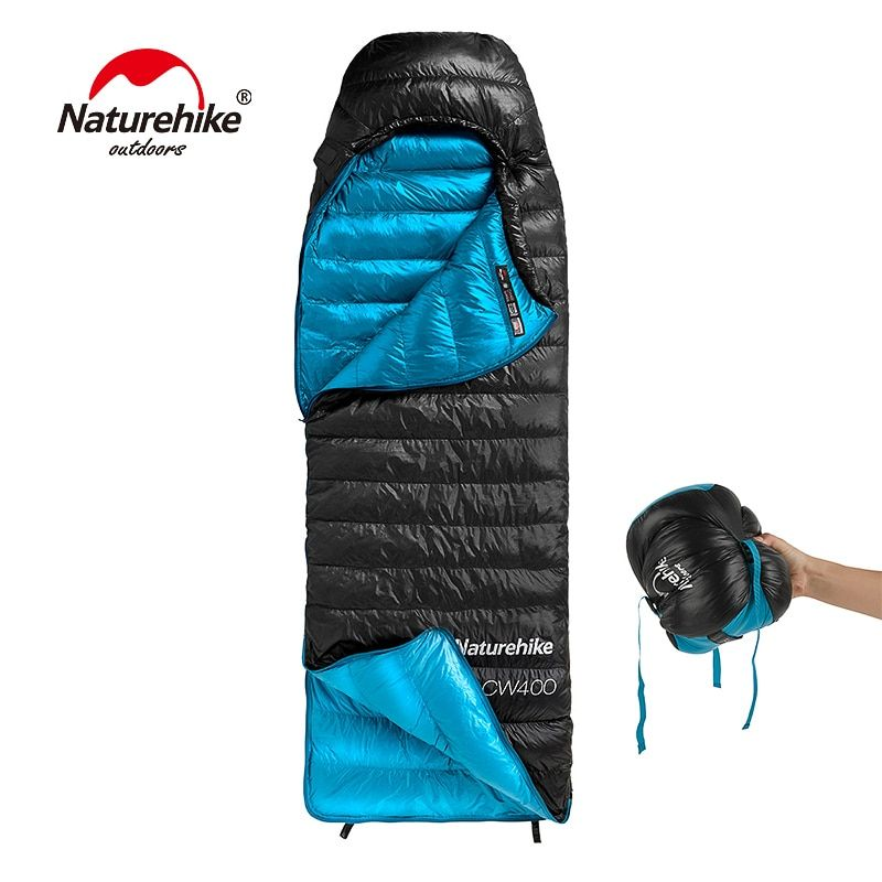 Naturehike CW400 Umschlag Typ Weiße Gans Unten schlafsack Winter Warme Schlafsäcke