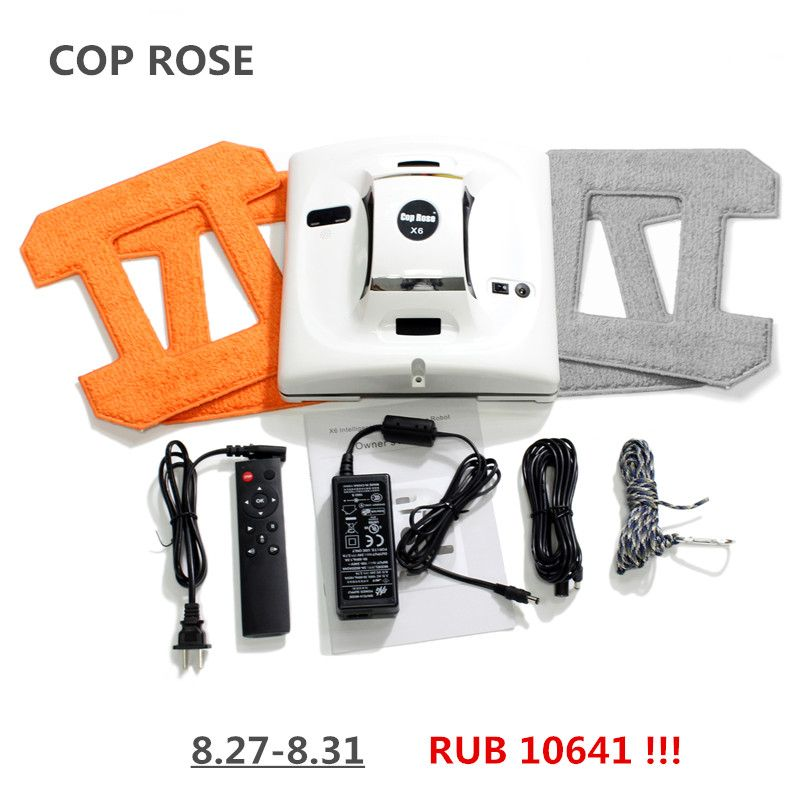 COP ROSE X6 Automatic Window Cleaning Robot,intelligent Washer,Remote Control,<font><b>Anti</b></font> fall UPS Algorithm Glass vacuum Cleaner Tool