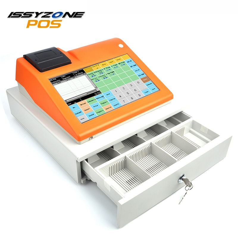 ISSYZONEPOS IPCR004S 11 Inch Cash Register Machine Touch POS System All in One bulit-in Thermal Receipt Printer Restaurant Store