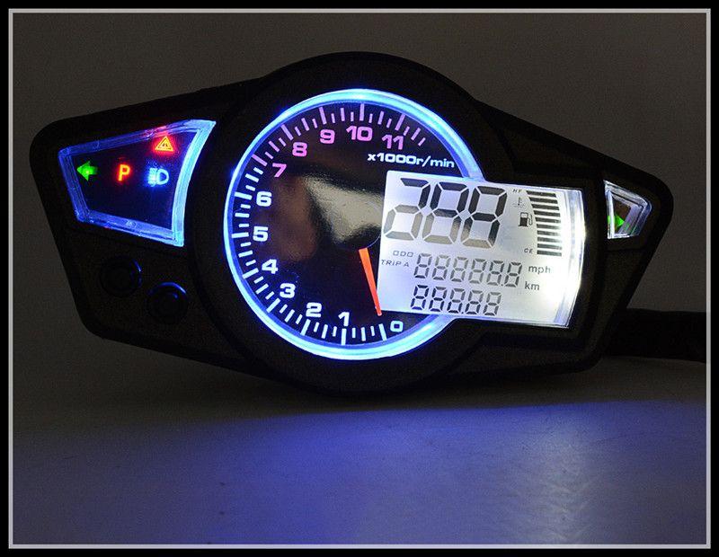 KOSO Motorcycle Odometer Refit LCD meter Adjustable 10inch 13inch 17inch 18inch 19inch 21inch tires