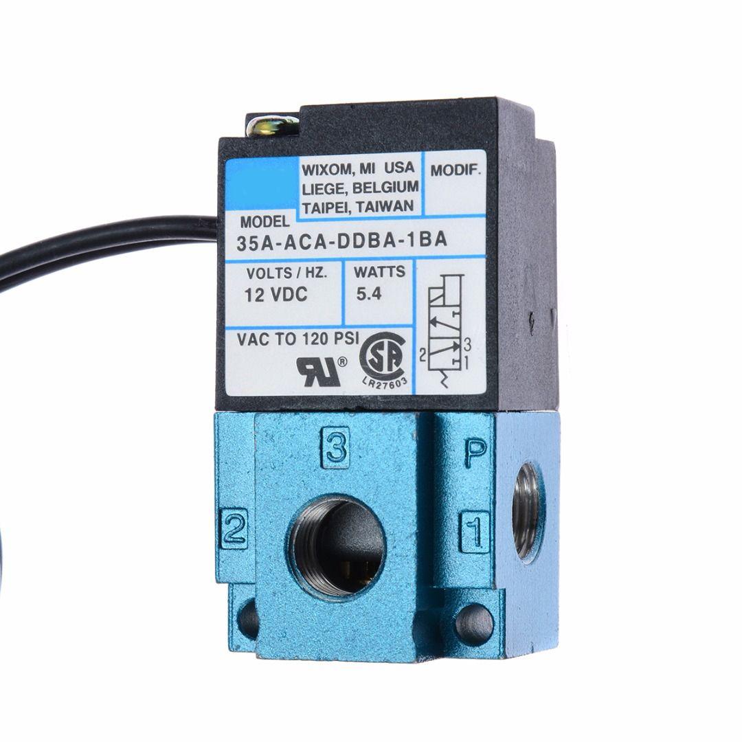 Mayitr 3 Port Magnetventil Elektronische Erhöhung Regelventil Pneumatische Teile 35A-ACA-DDBA-1BA 12VDC Elektrowerkzeuge Replacment Teile