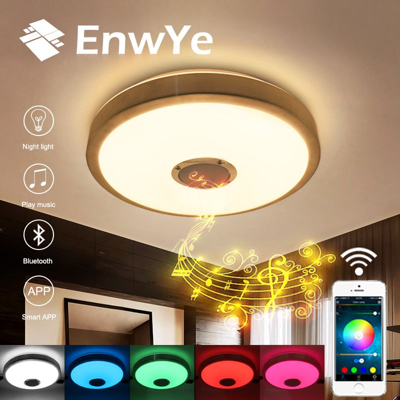 EnwYe RGB 23W LED ceiling Light with Bluetooth & Music 110V 220V modern Led  Dimmable ceiling lamp