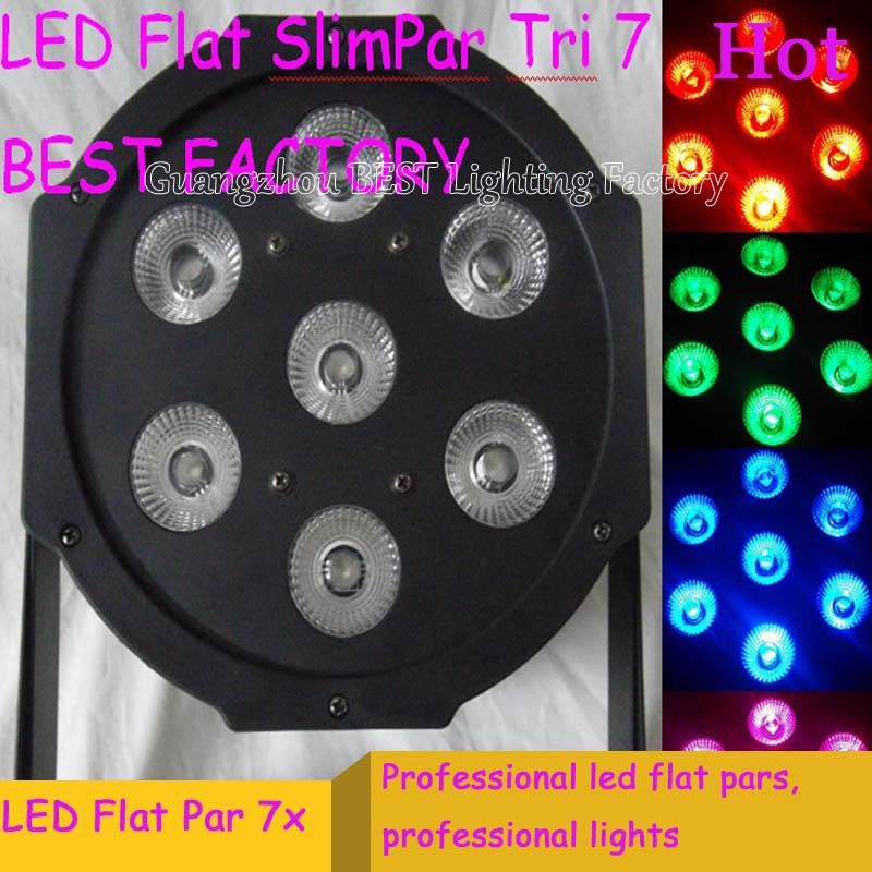 Envío rápido LED Par Tri-7 9 W RGB Flat Slimpar 3/7 canales
