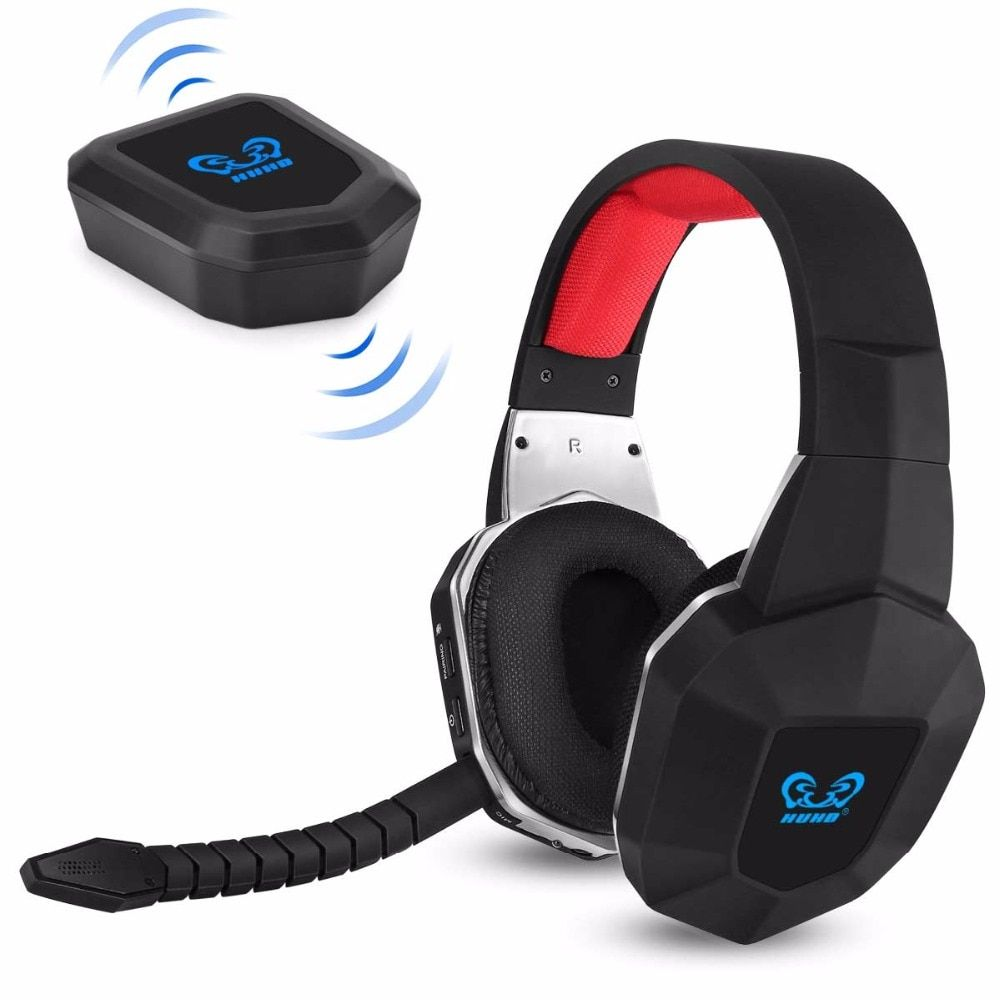 HUHD HW-N9 7.1 Son Surround Stéréo Sans Fil Gaming Headset Casque pour PS4/PS3 PC XBox Un 360 Antibruit microphone