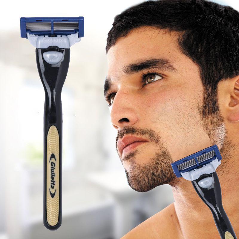 1 + 2 Combo Set Maschine + Klingen 4 Schichten Rasur für männer Austauschbare Rasierklingen Rasierer Manuelle Edelstahl stahl Rasieren Rasiermesser