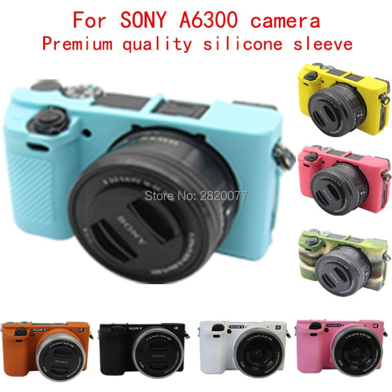 Thincarrie Flexible Silicone Camera Case Protective Cover Skin for Sony A6000 A6300 with 16-50mm lens,Free Shipping