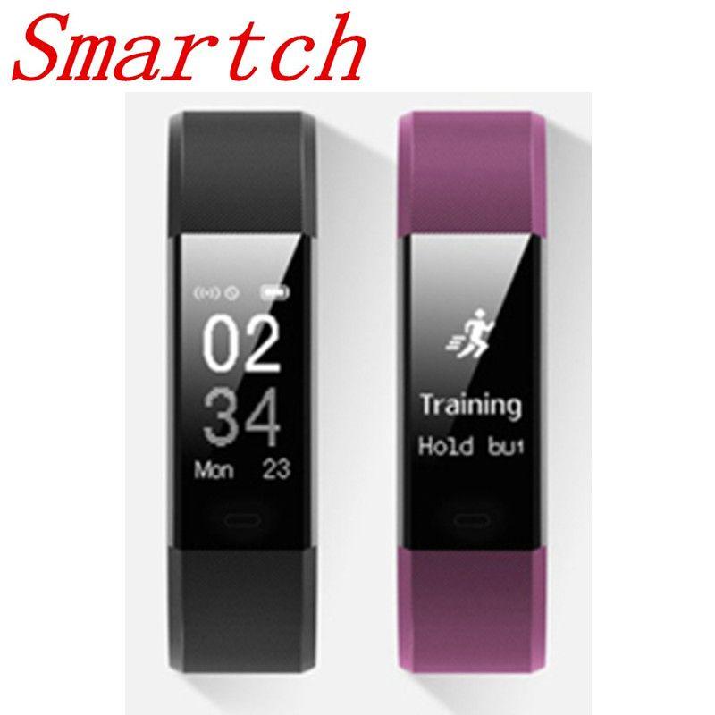 Smartch Original ID115HR Plus Heart Rate Smart Band Watch ID115 HR Bluetooth Call Reminder Fitness Tracker Bracelet ID115