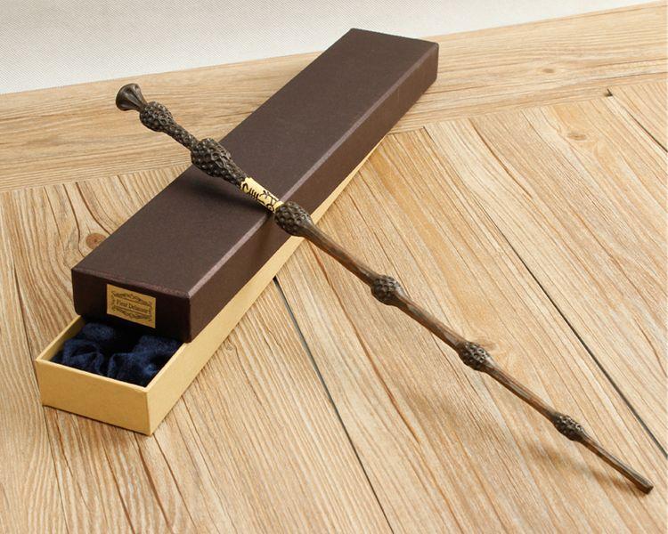 Original Version Qualité Noyau Métallique Deluxe COS Albus Dumbledore Magique baguette de Magique Bâton avec Boîte-Cadeau paquet de Harry potter