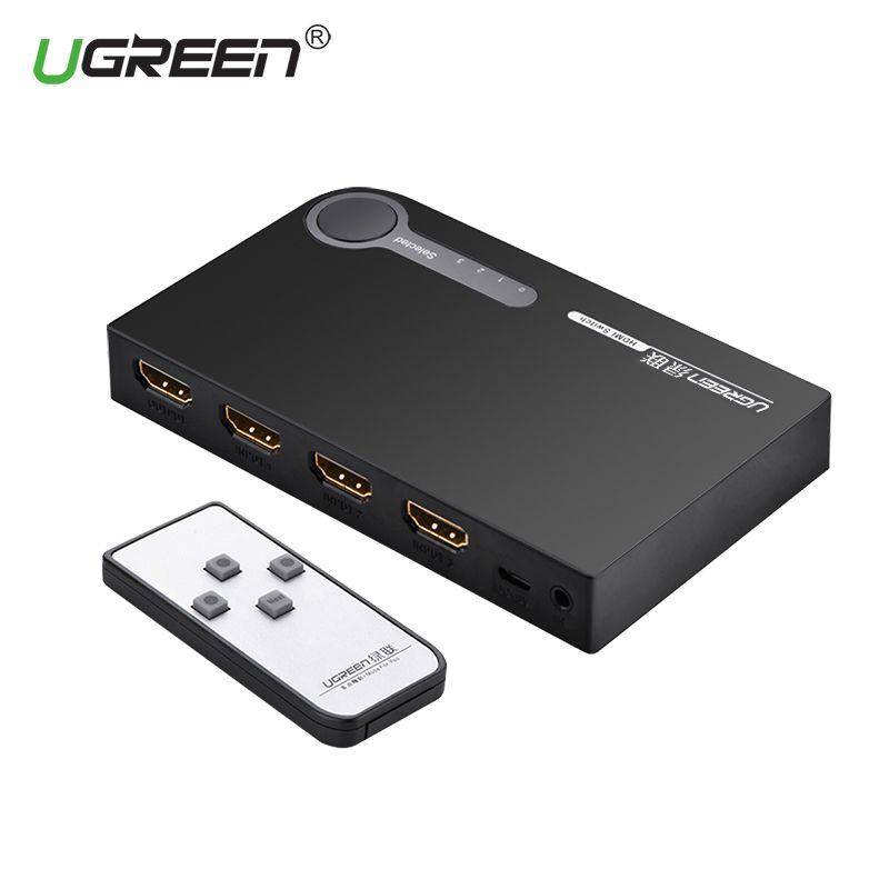UGREEN HDMI Splitter 3 Порты и разъёмы HDMI Коммутатор HDMI Порты и разъёмы для Xbox 360 PS3 PS4 Smart Android HDTV 1080 P 3 Вход до 1 Выход 4 К