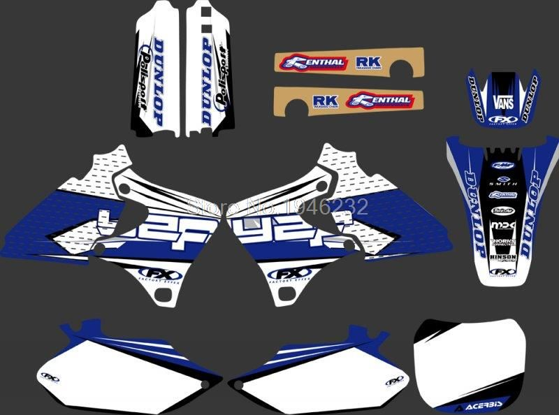 0013 New Style TEAM GRAPHICS&BACKGROUNDS DECALS STICKERS Kits for YAMAHA  4 STROKES YZ250F YZ400F YZ426F YZF 1999 2000 2001 2002