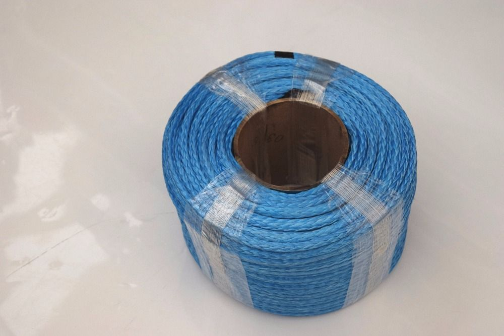 Blue 6mm*100m Synthetic Winch Cable,UHMWPE Rope,ATV Winch Line 6mm,Boat Winch Rope,Kevlar Rope