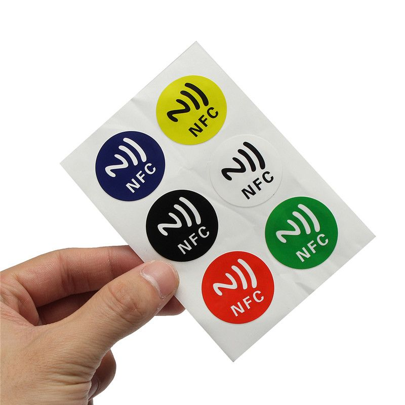 NEUE 6 teile/los NFC Tags NTAG213 Chip 888 Bytse Android Beschreibbare Programmierbare Smart Tags Nfc-Tags Aufkleber