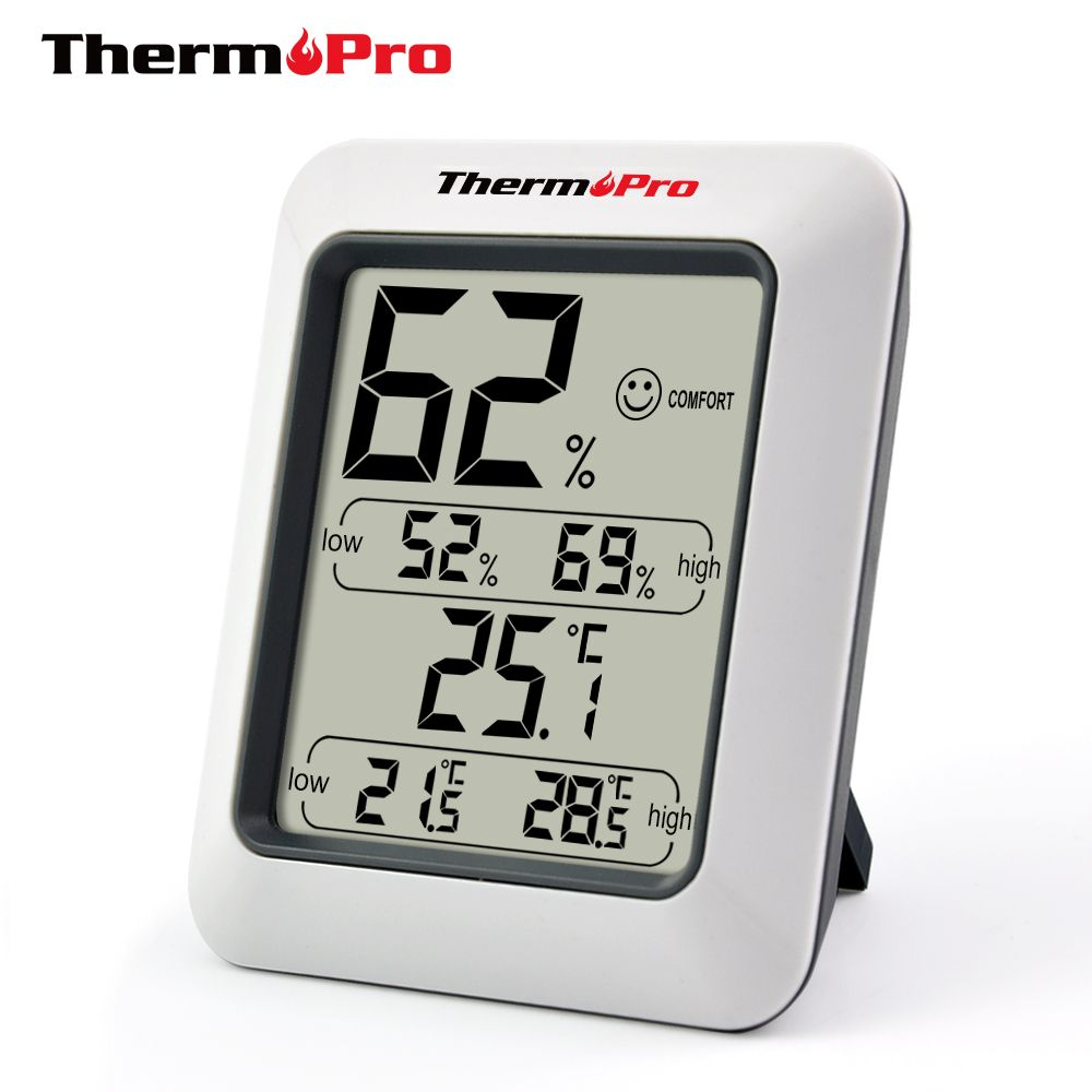 Thermopro TP50 High accuracy LCD Digital Thermometer Hygrometer Indoor Electronic Temperature Humidity Meter Weather Station