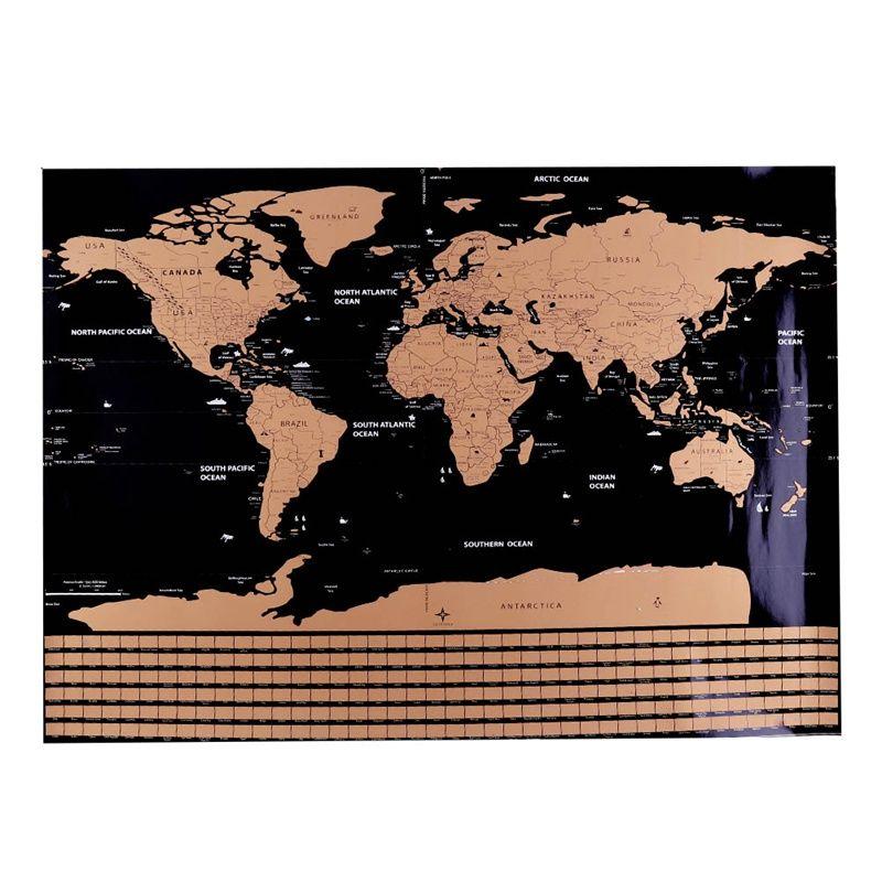1 Pc Scratch Map Personalized World Scratch Map Mini Creative Scratch Off Word Map