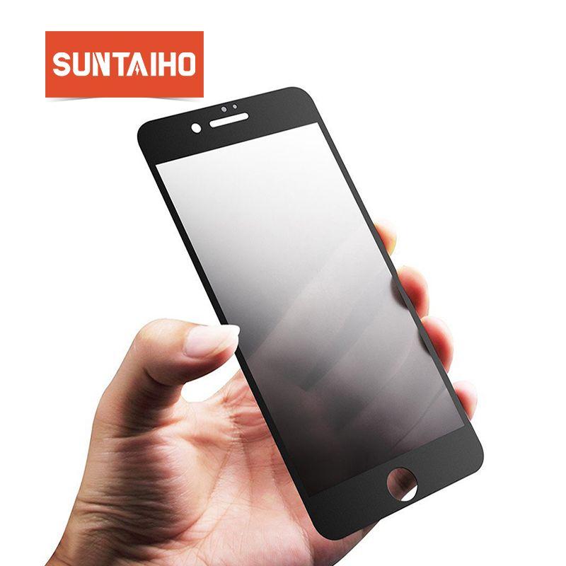 Suntaiho AG Frosted Anti Blau Licht Gehärtetem Glas für iPhone 8 plus Matte Anti-Fingerprints Bildschirm Protector für iPhone 6 s 7