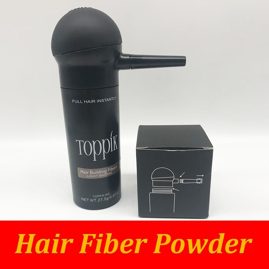 Toppik 27.5g hair building fiber bottle add hair spray applicator 2pcs/lot with free shipping