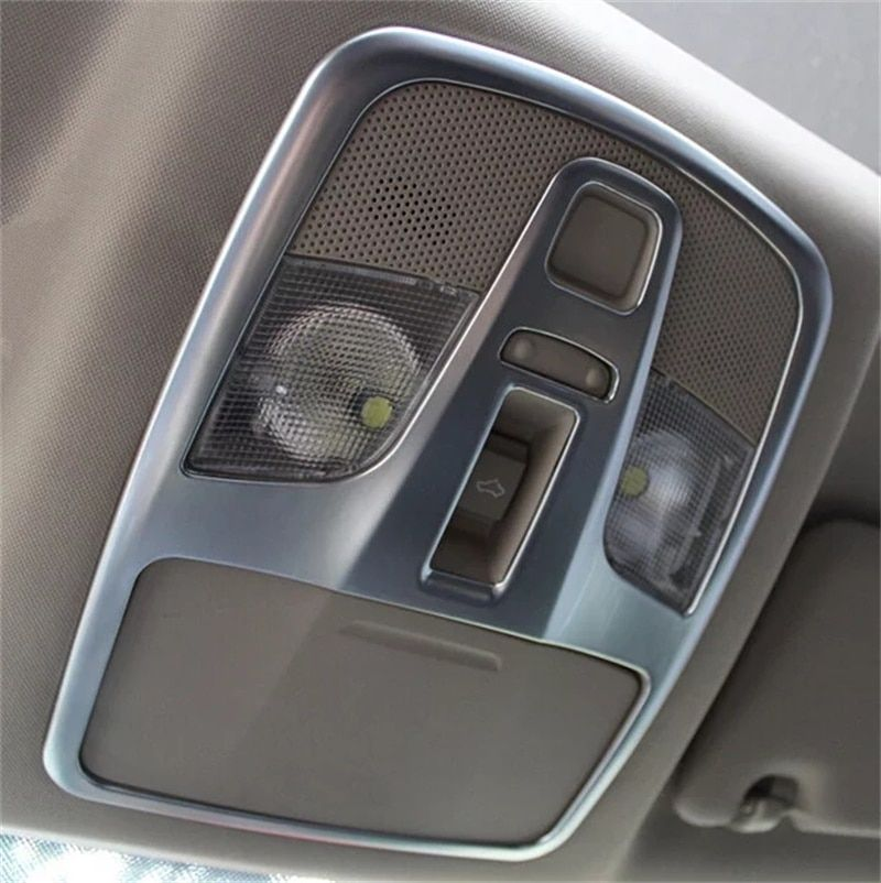 Abaiwai Car Inner Front Seat Roof Top Reading Light Lamp Cover Trims Light Frame For Suzuki Sx4 S-Cross Crossover 2014 2015 2016