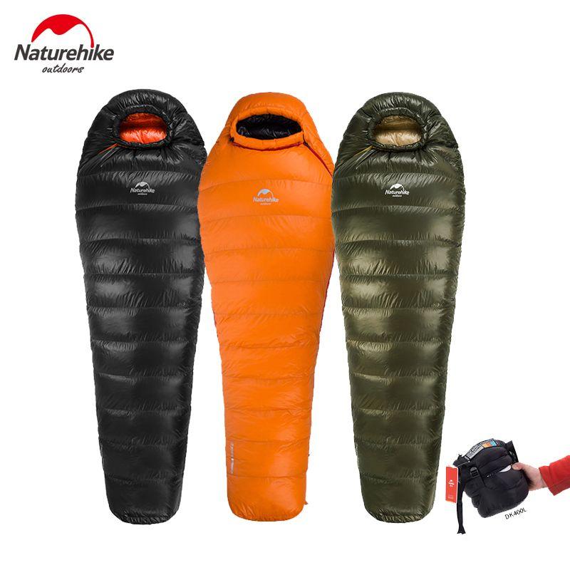Naturehike Neue Outdoor Ente Daunenschlafsack Mumienschlafsack Winter Schlafsack NH15D800-K