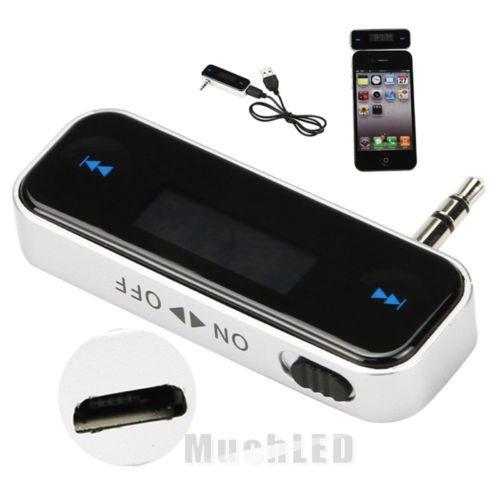 Новый Беспроводной Car Kit MP3 плеера к машине Радио fm-передатчик для 3.5 мм MP3 Ipod телефоны Планшеты